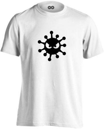 HarciBaci infektológiai férfi póló (fehér)