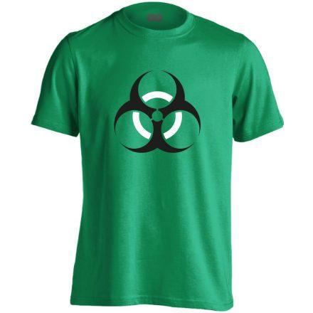 Vigyázz, biosz! infektológiai férfi póló (zöld)