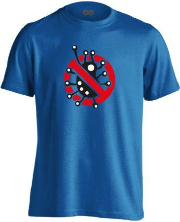 Fertőzni Tilos infektológiai férfi póló (kék)
