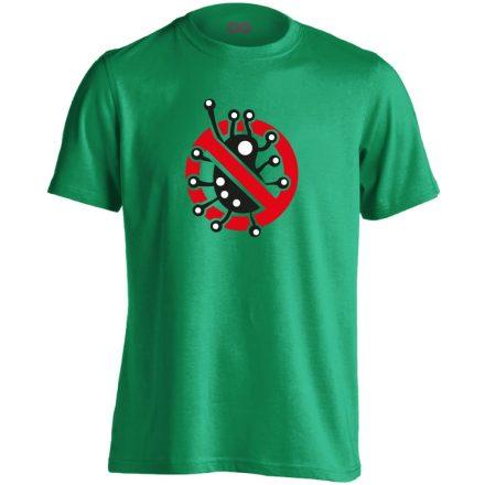 Fertőzni Tilos infektológiai férfi póló (zöld)