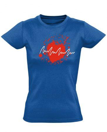 TarantinoEKG kardiológiai női póló (kék)