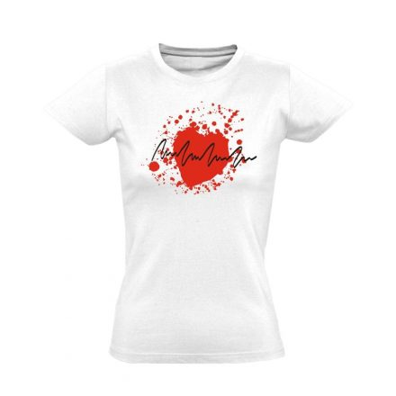TarantinoEKG kardiológiai női póló (fehér)