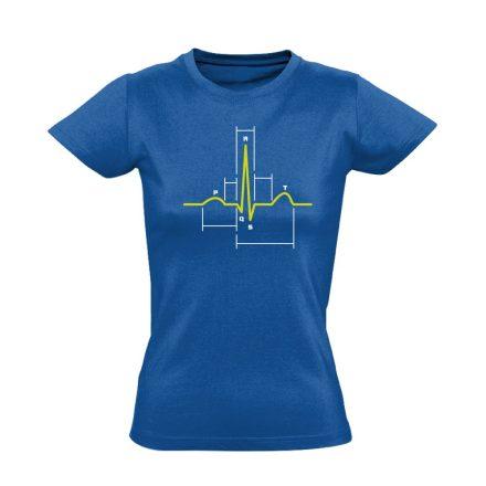 Sci-Szív kardiológiai női póló (kék)