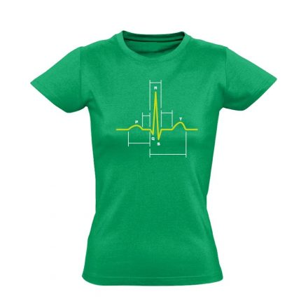 Sci-Szív kardiológiai női póló (zöld)