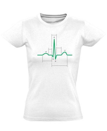 Sci-Szív kardiológiai női póló (fehér)