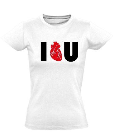 I.L.U. kardiológiai női póló (fehér)