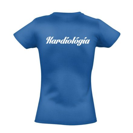 Kardiológia női póló (kék)