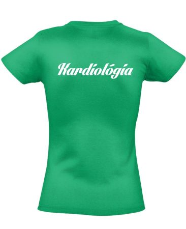 Kardiológia női póló (zöld)