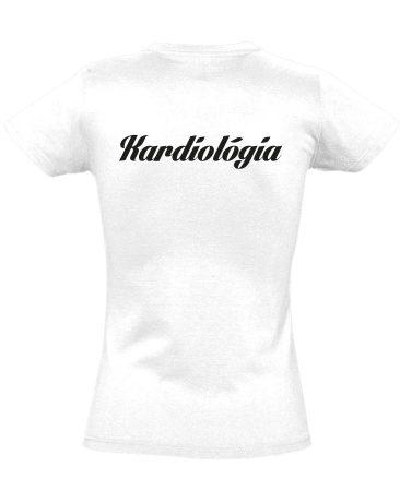Kardiológia női póló (fehér)