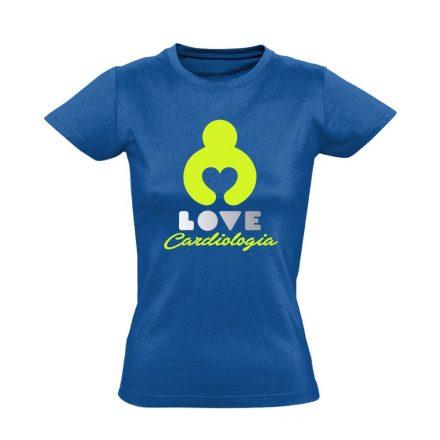 KardioLOVE kardiológiai női póló (kék)
