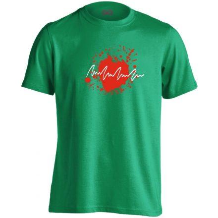 TarantinoEKG kardiológiai férfi póló (zöld)