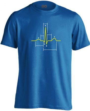 Sci-Szív kardiológiai férfi póló (kék)