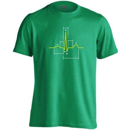 Sci-Szív kardiológiai férfi póló (zöld)