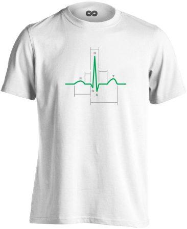 Sci-Szív kardiológiai férfi póló (fehér)