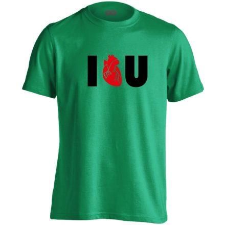 I.L.U. kardiológiai férfi póló (zöld)