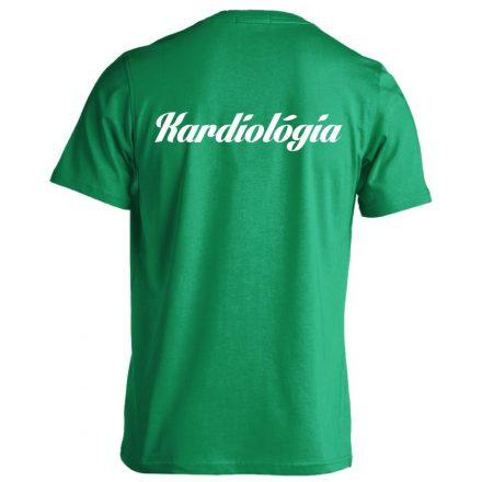 Kardiológia férfi póló (zöld)