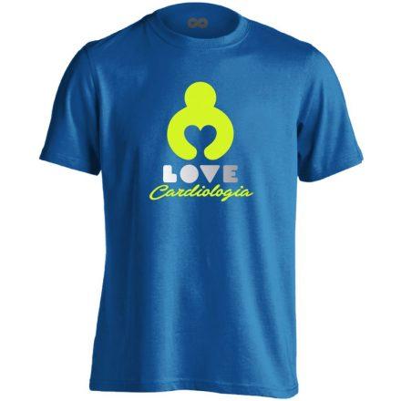 KardioLOVE kardiológiai férfi póló (kék)