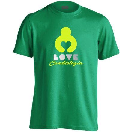 KardioLOVE kardiológiai férfi póló (zöld)