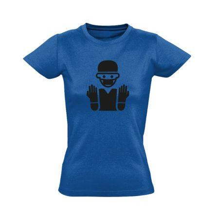 Bemosakodva központi műtős női póló (kék)