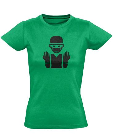 Bemosakodva központi műtős női póló (zöld)