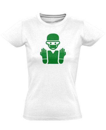 Bemosakodva központi műtős női póló (fehér)