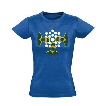 NézőPont központi műtős női póló (kék)