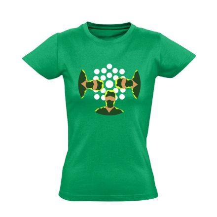 NézőPont központi műtős női póló (zöld)