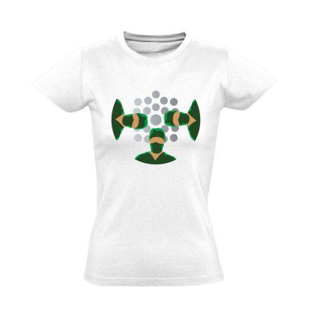 NézőPont központi műtős női póló (fehér)