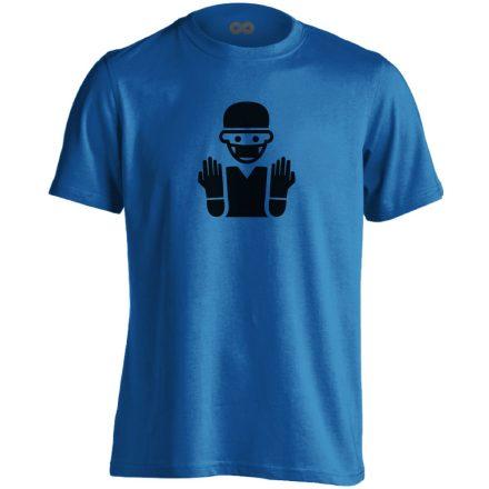 Bemosakodva központi műtős férfi póló (kék)