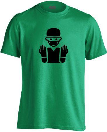 Bemosakodva központi műtős férfi póló (zöld)