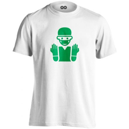 Bemosakodva központi műtős férfi póló (fehér)