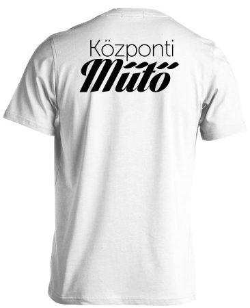Központi műtő férfi póló (fehér)