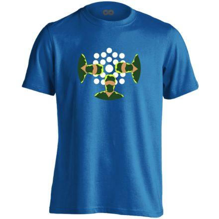 NézőPont központi műtős férfi póló (kék)