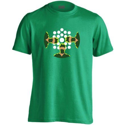 NézőPont központi műtős férfi póló (zöld)