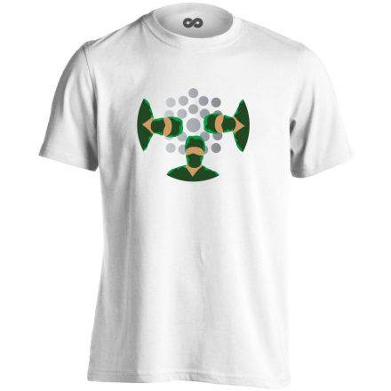 NézőPont központi műtős férfi póló (fehér)