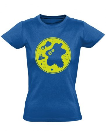 Bacik laboros/mikrobiológiai női póló (kék)