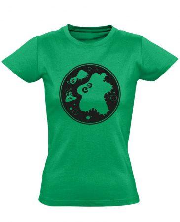 Bacik laboros/mikrobiológiai női póló (zöld)