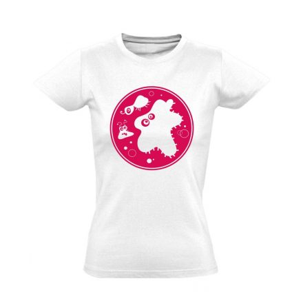 Bacik laboros/mikrobiológiai női póló (fehér)