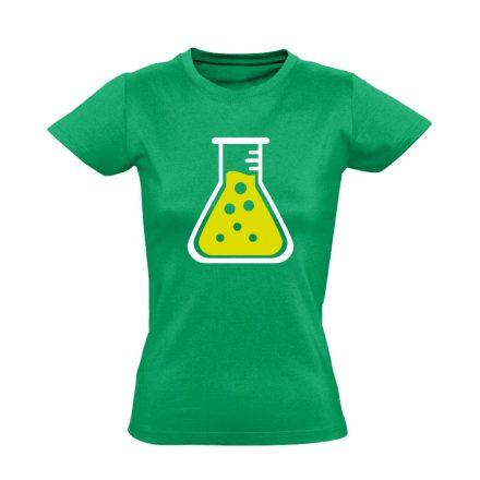 LombikBuggy laboros/mikrobiológiai női póló (zöld)