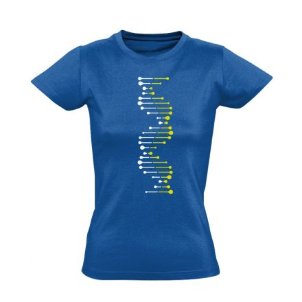 DéEnEs laboros/mikrobiológiai női póló (kék)