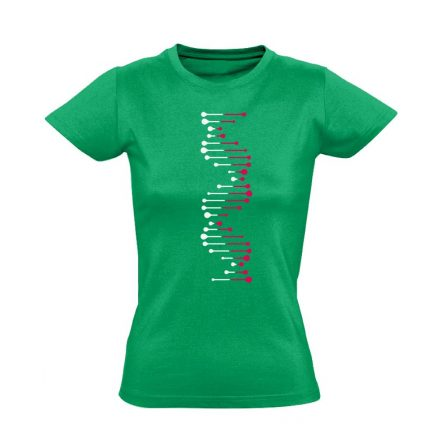 DéEnEs laboros/mikrobiológiai női póló (zöld)