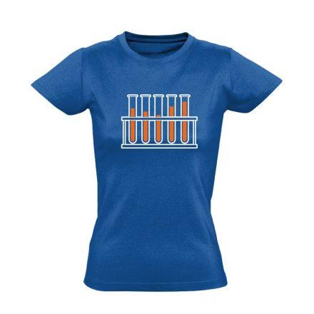Cső kém! laboros/mikrobiológiai női póló (kék)