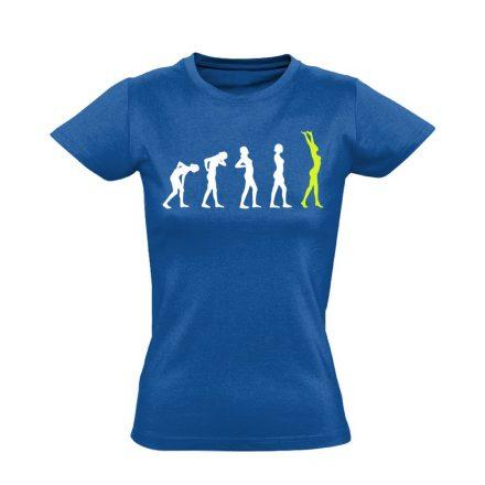 Stáció masszázs női póló (kék)