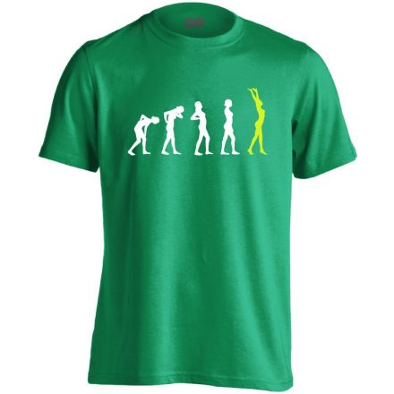 Stáció masszázs férfi póló (zöld)