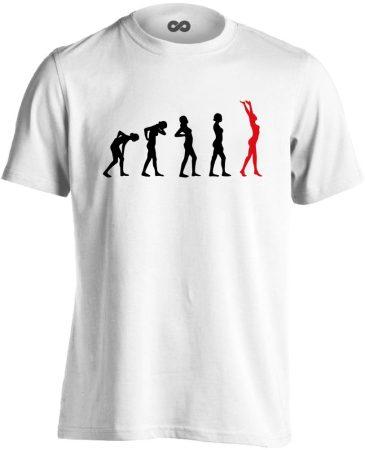 Stáció masszázs férfi póló (fehér)