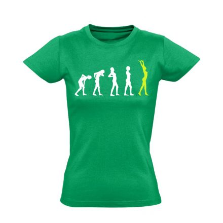 Stáció masszázs női póló (zöld)