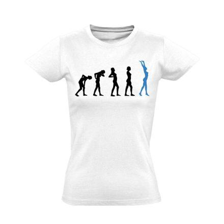 Stáció masszázs női póló (fehér)