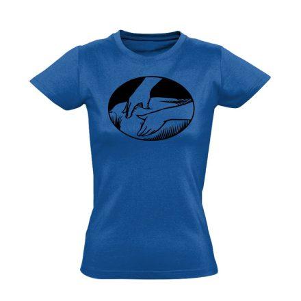 Presszúra masszázs női póló (kék)
