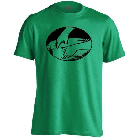 Presszúra masszázs férfi póló (zöld)