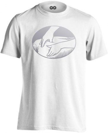 Presszúra masszázs férfi póló (fehér)